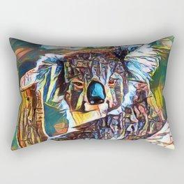 Monkey Bear Geometry | Painting Rectangular Pillow