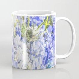 Summertime Purple & White Hydrangeas In Mason Jars Coffee Mug