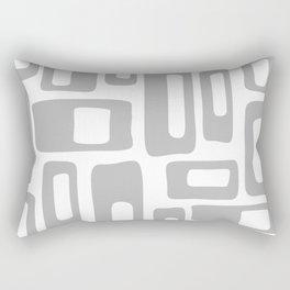 Retro Mid Century Modern Abstract Pattern 336 Gray Rectangular Pillow