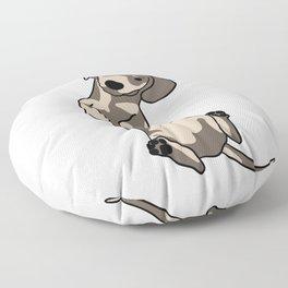 Happy dachshund illustration Floor Pillow
