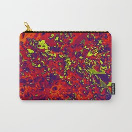 Floral Abstraction in red Carry-All Pouch