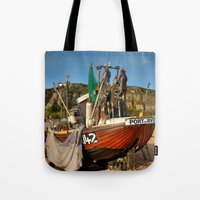 catcher in the rye Tote Bags featuring Port Of Rye by Best Light Images