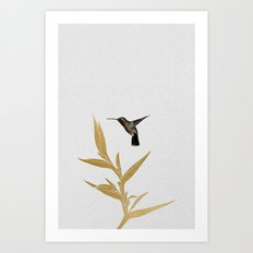 Hummingbird & Flower II Art Print
