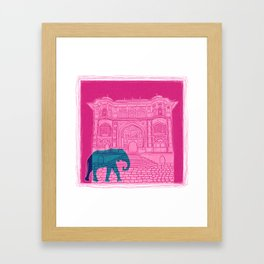 Indian palace and elephant Framed Art Print