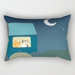 Dharma & Maya are dreaming Rectangular Pillow