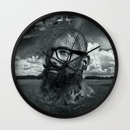 Eco Hipster Black and White Wall Clock