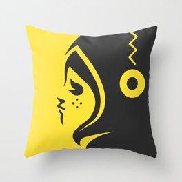 Yellow char Throw Pillow
