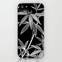 White Bamboo iPhone Case