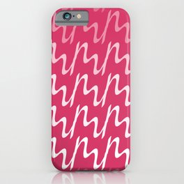 Red & Pink Ripple Pattern iPhone Case