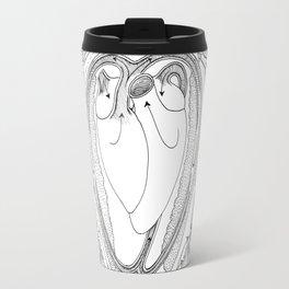 Avian Respiratory System, B&W Travel Mug