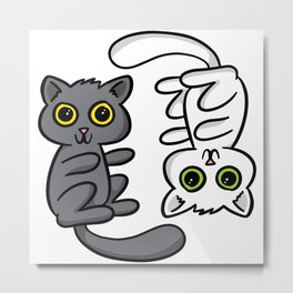 Two Cats, One Print Metal Print
