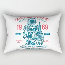 Outer space Adventure - Born to be an astronaut Rectangular Pillow