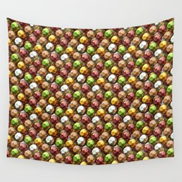 Metallic Beads Pattern Wall Tapestry