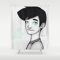 danny ivan Shower Curtains featuring Danny Fenton by Dante Blue