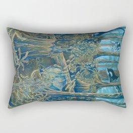 Forest Salmon Run  Rectangular Pillow