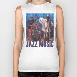 Jazz Music Biker Tank