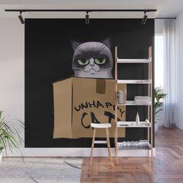 Unhappy Cat Wall Mural