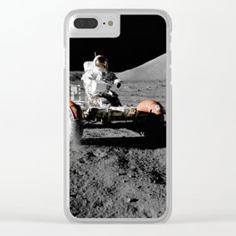 Apollo 17 - Moon Buggy Clear iPhone Case