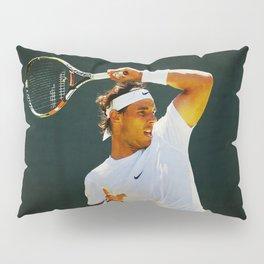 Nadal Tennis Over the Head Forehand Pillow Sham