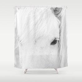 White Horse Photograph Shower Curtain