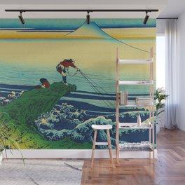 Vintage Japanese Art - Man Fishing Wall Mural