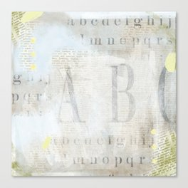 Artisan ABCs Canvas Print