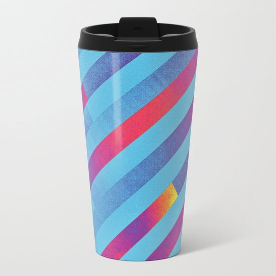 Pattern 1 Metal Travel Mug