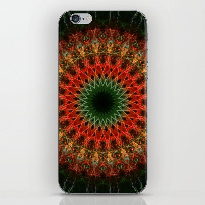 Autumn mandala iPhone Skin
