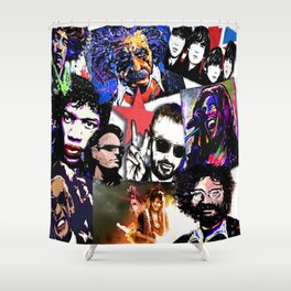Famous Icons from Einstein to Bono Shower Curtain