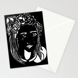 Paper Cut - Woman No. 1 --2 Stationery Cards