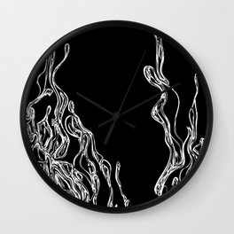 Dripping Swirls Wall Clock