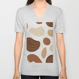 Abstract organic shapes pattern Unisex V-Neck