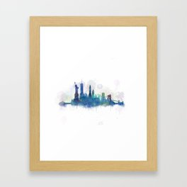 NY New York City Skyline Framed Art Print