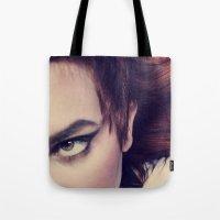 odd future Tote Bags featuring Odd  by Ashley Boxler