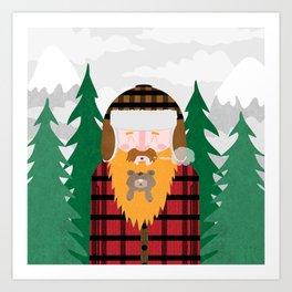 Bear Beard Art Print