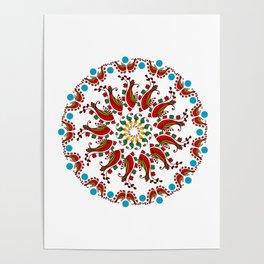 Hand drawn Mandala design Poster