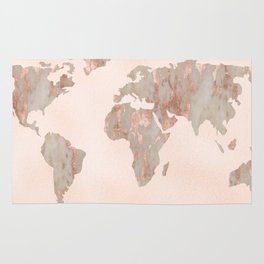 Rosegold marble map of the world wall tapestry by mapmaker society6 rosegold marble map of the world rug gumiabroncs Gallery