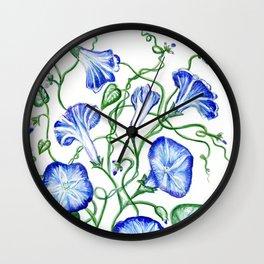 Morning Glory Vine Wall Clock