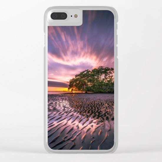 Landscape reflection 2 waves sky Clear iPhone Case