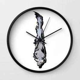 Wind Wolf Wall Clock