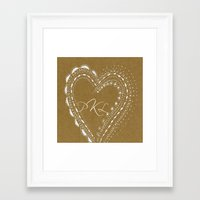 monogram Framed Art Prints featuring monogram by L Step