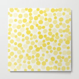 Illuminating Yellow Dots Metal Print