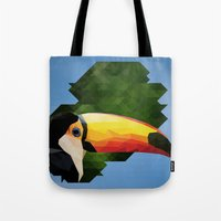 toucan Tote Bags featuring toucan by gazonula