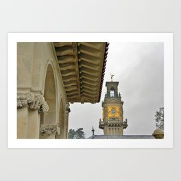 South Terrace and clock tower  Art Print