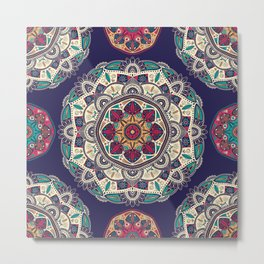 Colorful Mandala Pattern 007 Metal Print