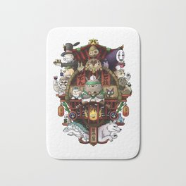 Ghibli Izakaya Print Coloured Bath Mat