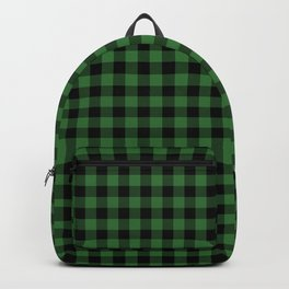 Classic Green Country Cottage Summer Buffalo Plaid Backpack