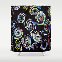 glass Shower Curtains featuring Stirred Glass (Glass Series) by Nancy Smith