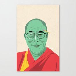 Dalai Lama Illustration Canvas Print