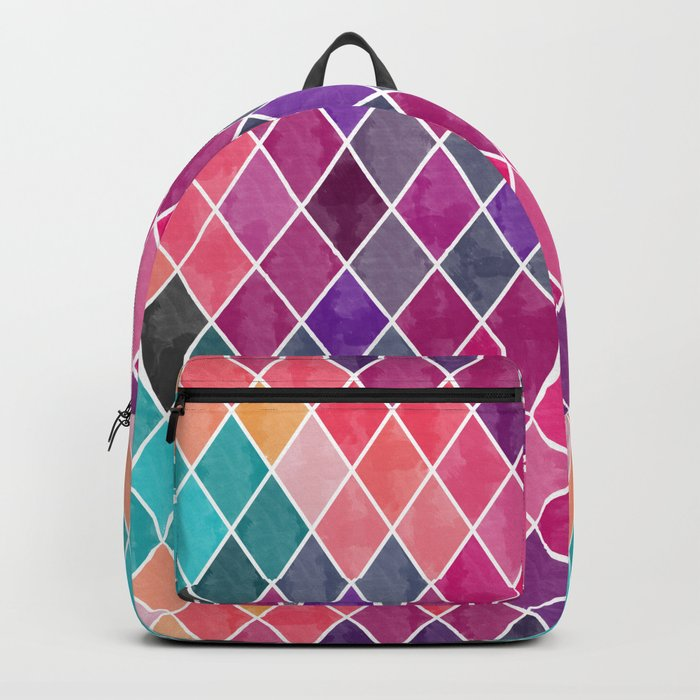 Watercolor Geometric Pattern Backpack